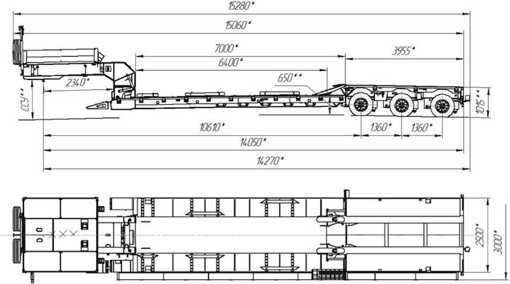 Схема полуприцепа 9942D3.001